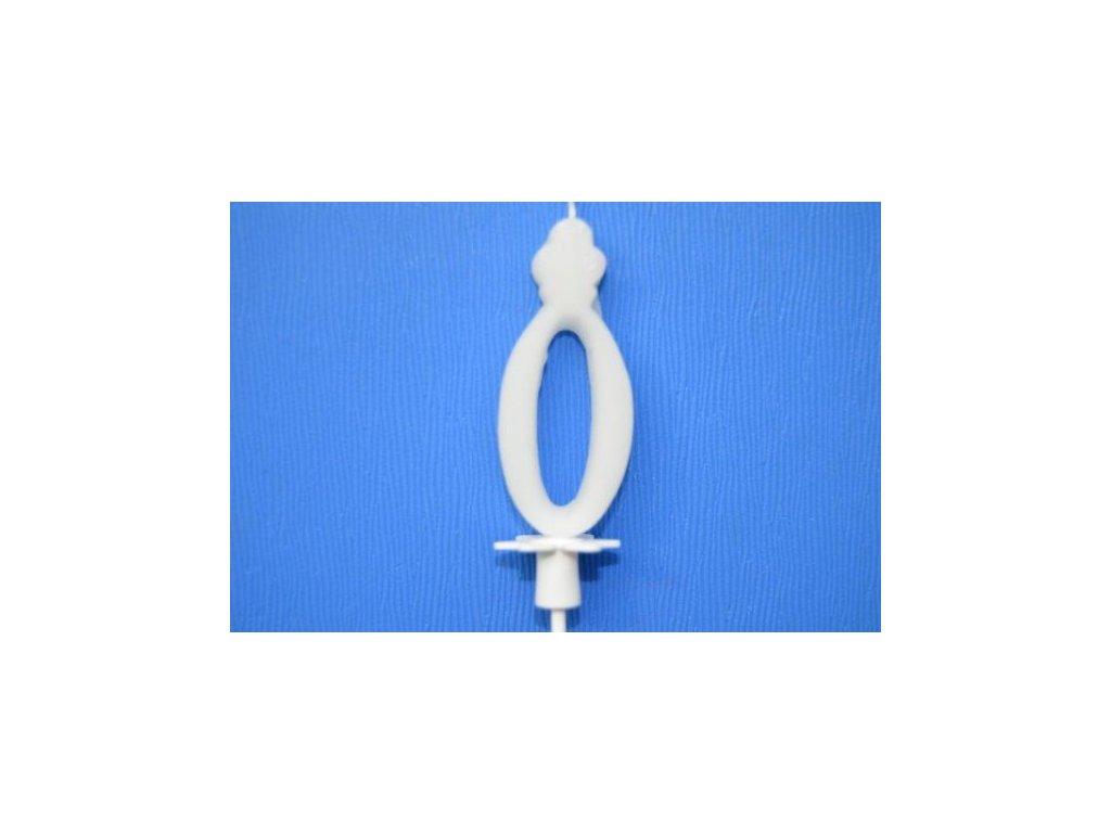 Dortová svíčka číslice bílá - 0