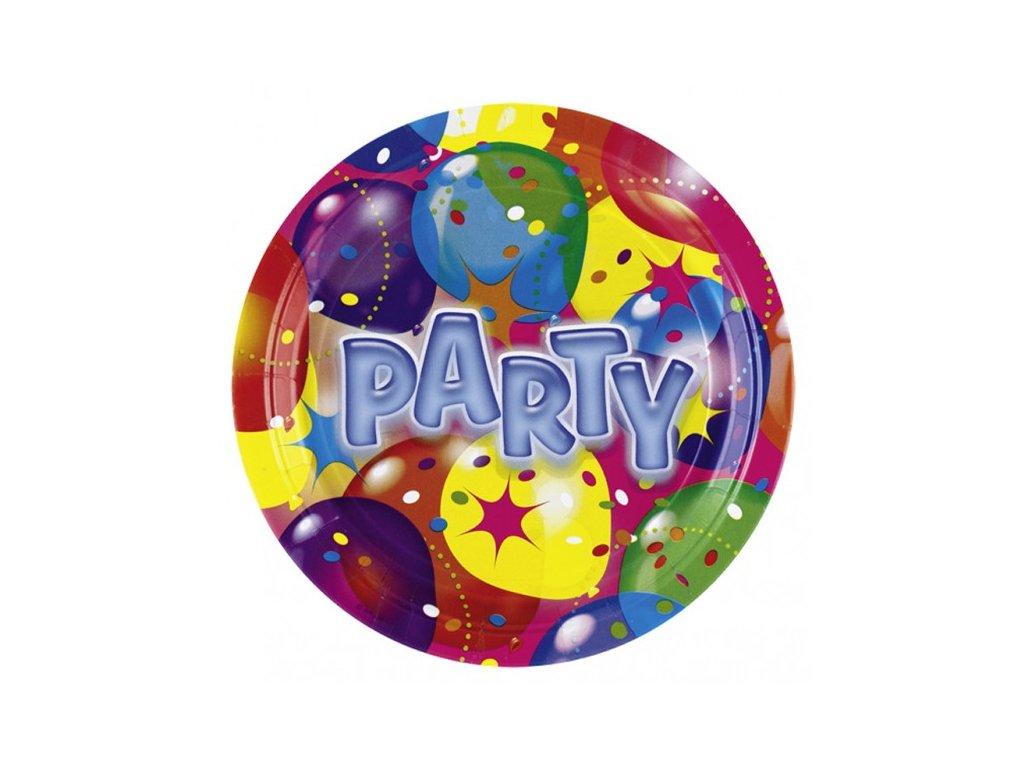 Party talíře 8 ks - motiv baloons