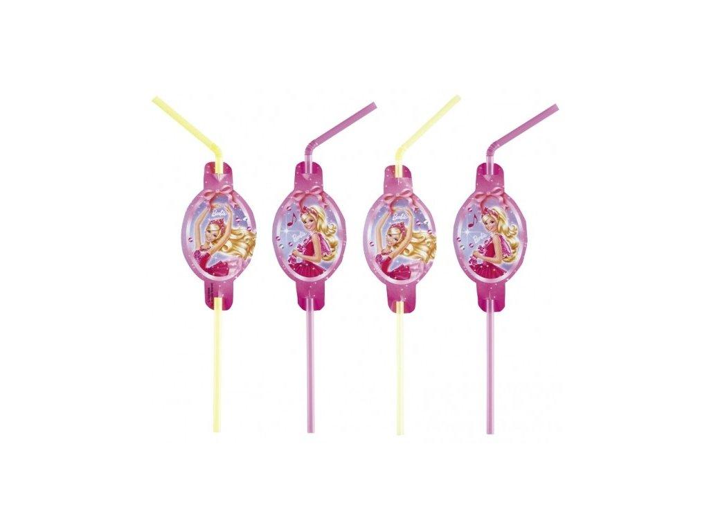Slámky na pití 8 ks - Barbie