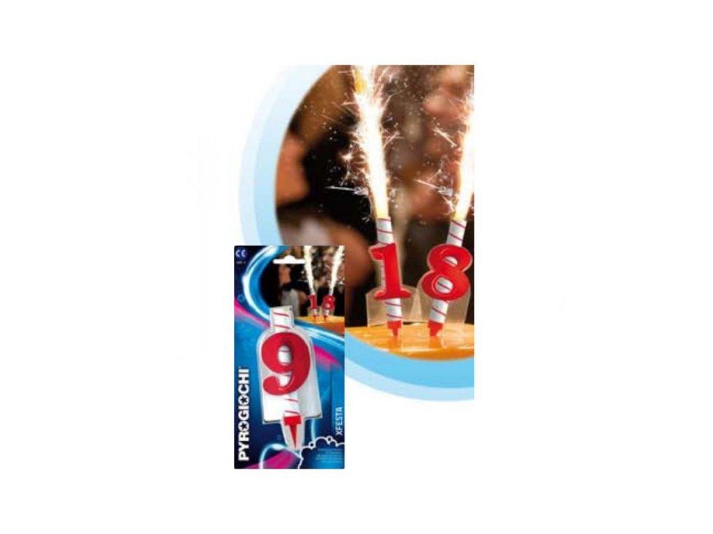 Dortová fontána s číslicí - 9