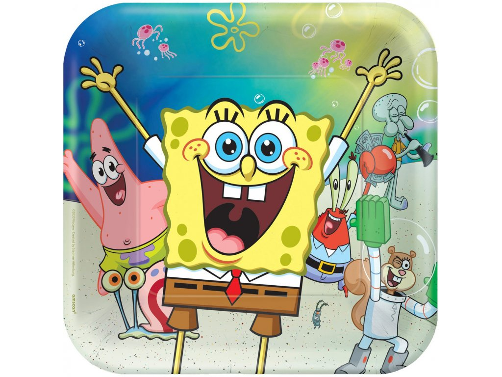 Party talíře 8 ks - SpongeBob