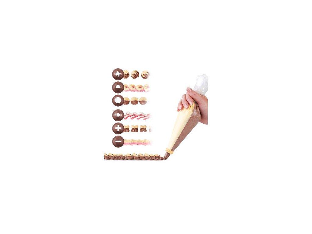 Zdobicí sáček DVOJITÝ 30 cm - 10 ks - 6 trysek