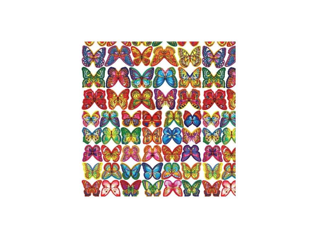 Motýlci z jedlého papíru - balení 260 ks