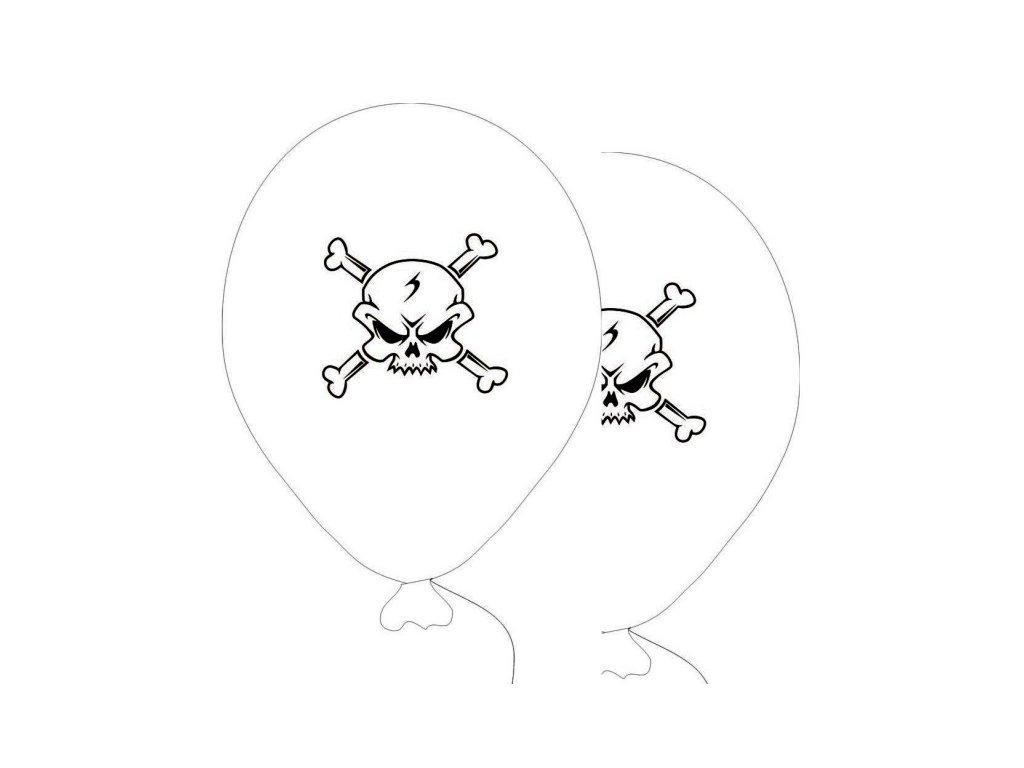 Balónky 5 ks - bílá barva PIRÁTI
