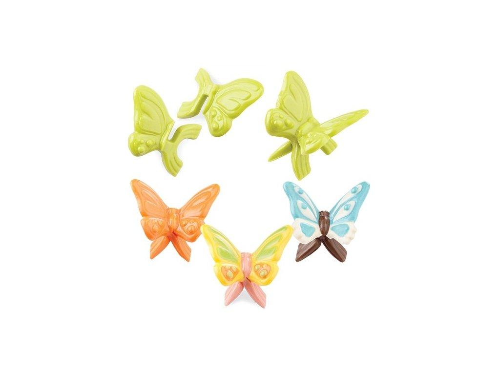 Čoko formička plastová - 3D motýlci