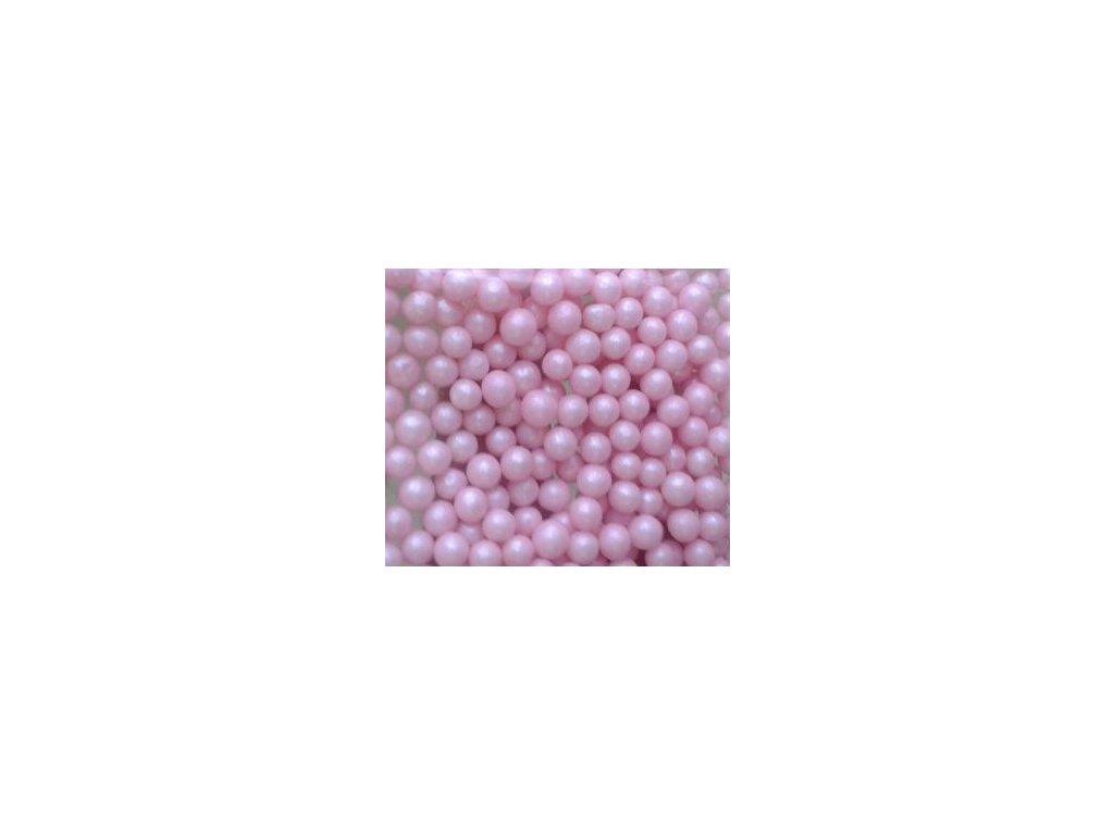 Cukrové perle - 20g - perleťově růžové
