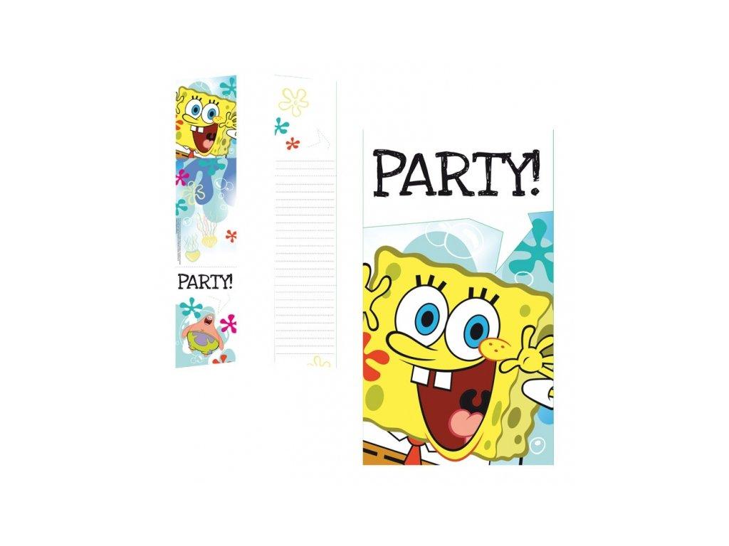 Pozvánky na párty 6 ks - Spongebob