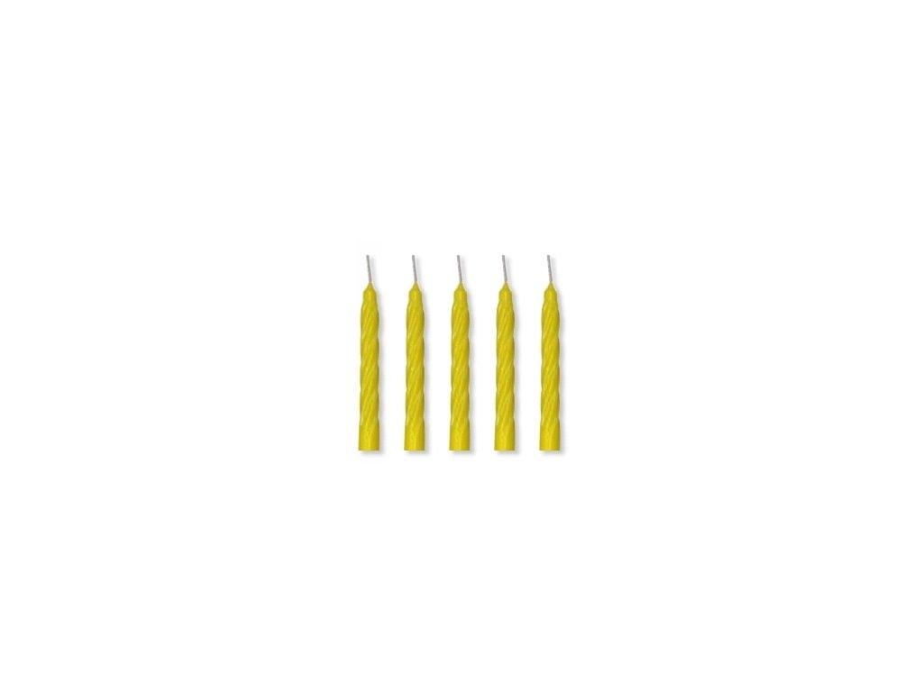 Dortové svíčky Modecor 100 ks - žluté