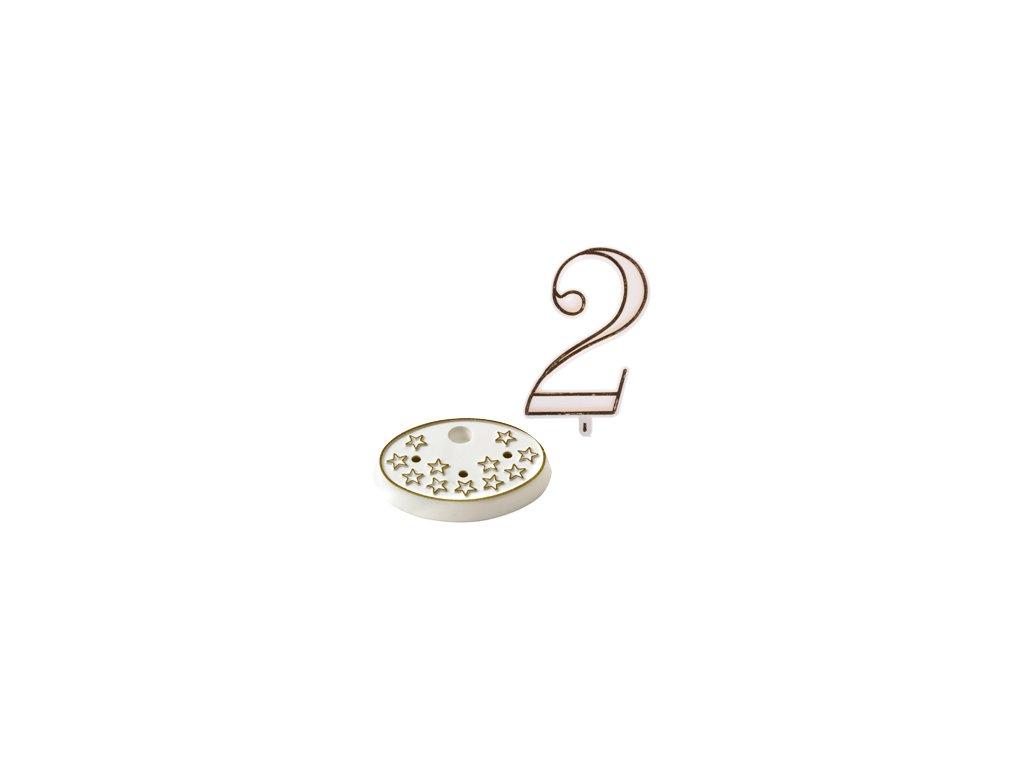 Číslice na dort s podstavcem - 2