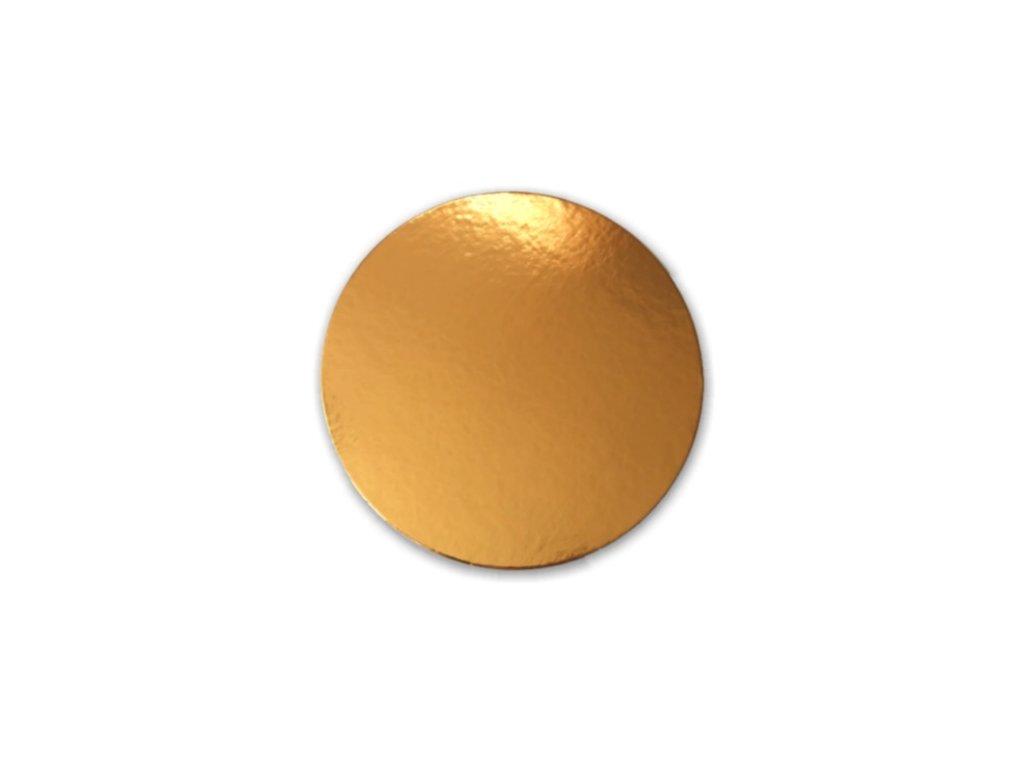 Zlatá podložka SILNĚJŠÍ - hladký okraj - 26 cm