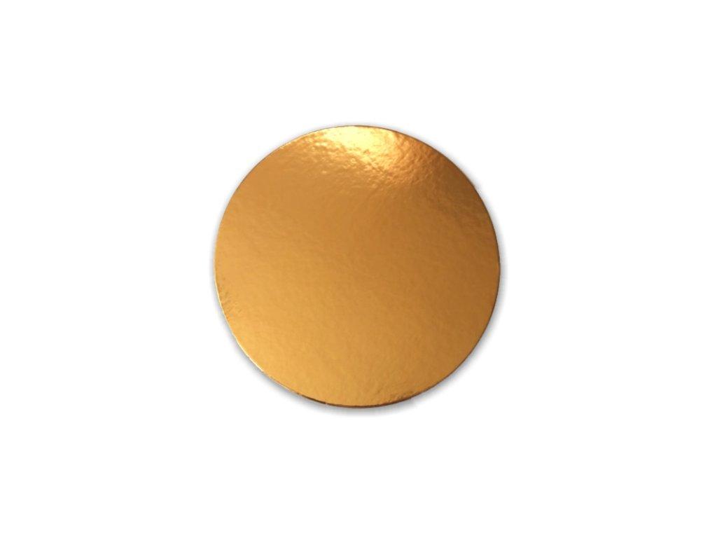 Zlatá podložka SILNĚJŠÍ - hladký okraj - 30 cm - balení 2 ks