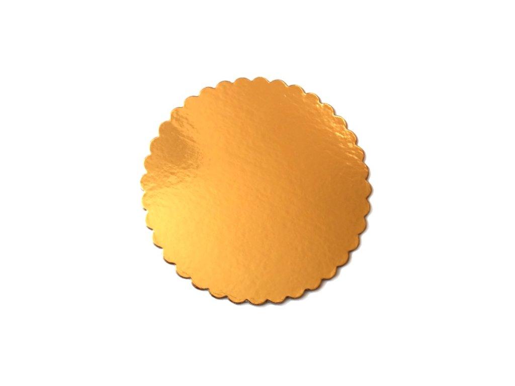 Zlatá podložka SILNĚJŠÍ - vlnitý okraj - 30 cm - balení 2 ks
