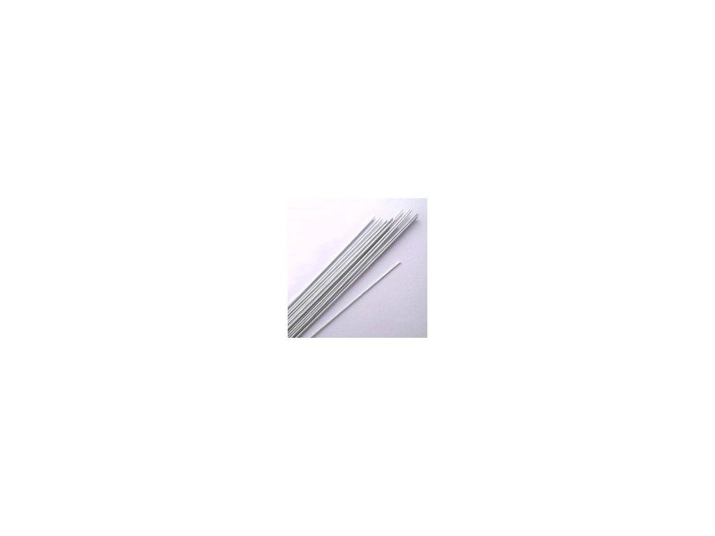 Aranžovací drátek - č.28 - bílý