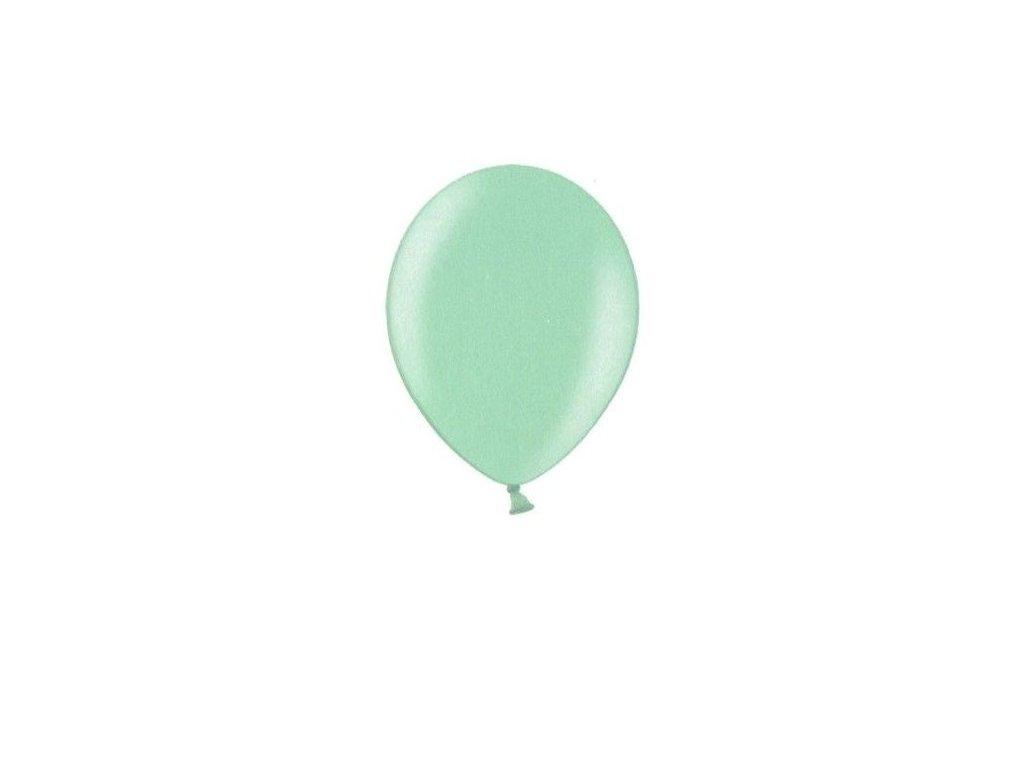 Metalické balonky 5 ks - light green