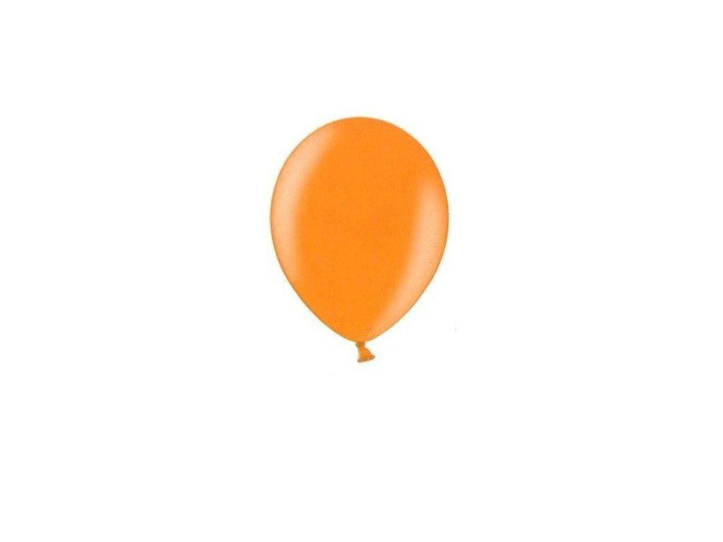 Metalické balonky 5 ks - bright orange