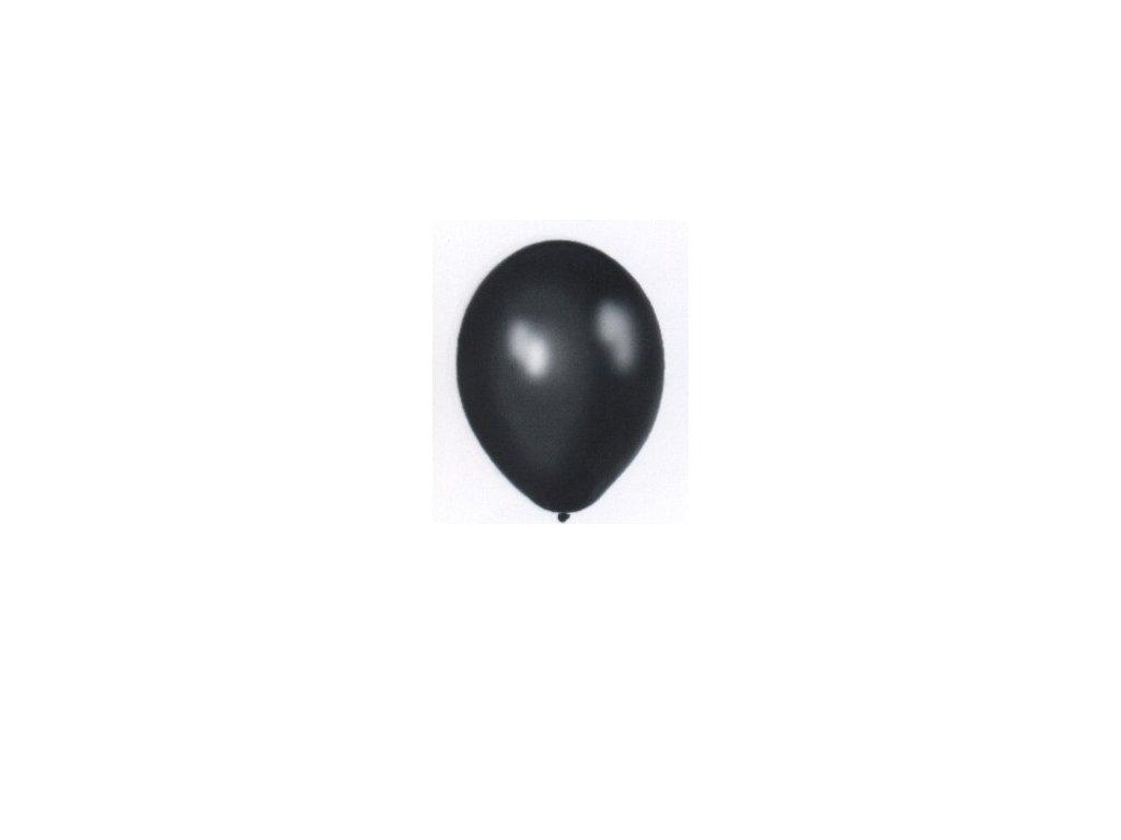 Metalické balonky 5 ks - černé