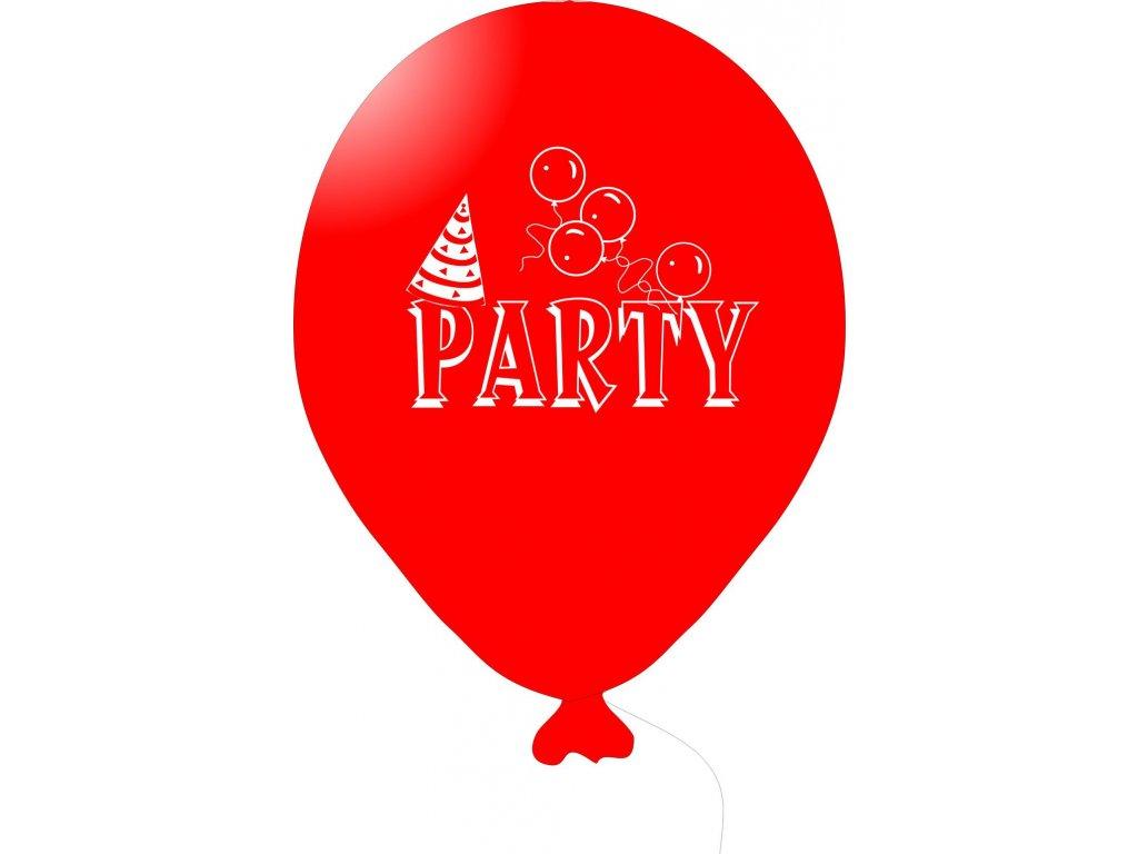 Balónky s nápisem PARTY 5 ks - červené