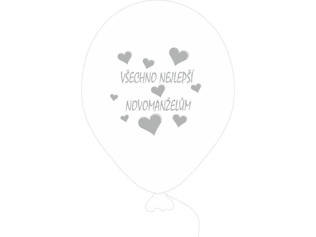 Balónky svatební VŠE NEJ... 5 ks - perleťové