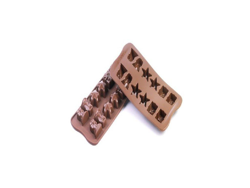 Forma na čokoládu Silikomart - Vánoce
