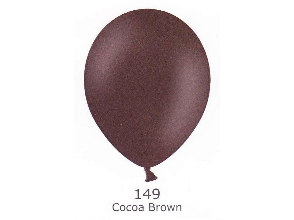 Balónky 5 ks pastelové - hnědé