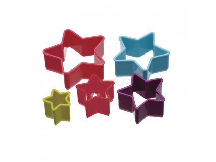 Vykrajovátka Colourworks 5 ks - hvězdy