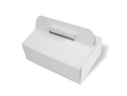 Výslužková krabice bílá větší - 50 ks