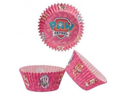 Košíčky na muffiny Dekora - Tlapková patrola růžové