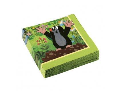 Ubrousky s potiskem - Krteček - zelené