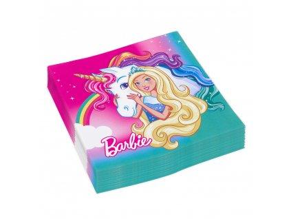 Ubrousky s potiskem - Barbie a Jednorožec