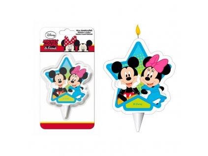 display 12 velas 2d mickey minnie