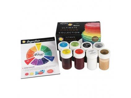 Sada gelových barev 8 ks ULTIMATE - PME Anglie