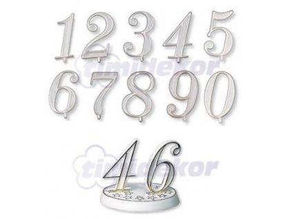 Číslice plastová - 8 - 10 ks