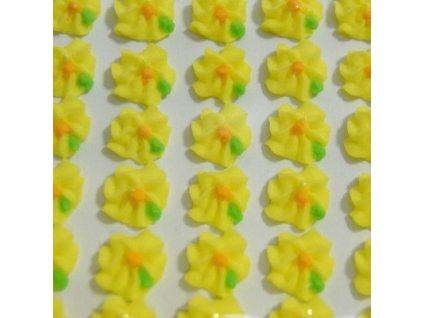 Cukrové ozdoby Timidekor - kytičky žluté