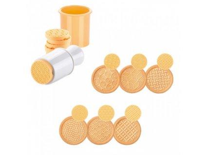 Razítko na sušenky DELÍCIA, 6 dekorů
