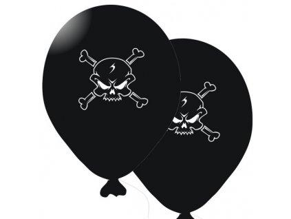 Balónky 5 ks - černá barva PIRÁTI