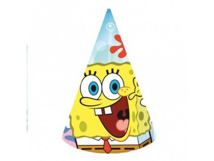 Párty čepičky 6 ks - Spongebob