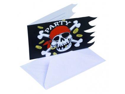 Pozvánky na párty 6 ks - piráti