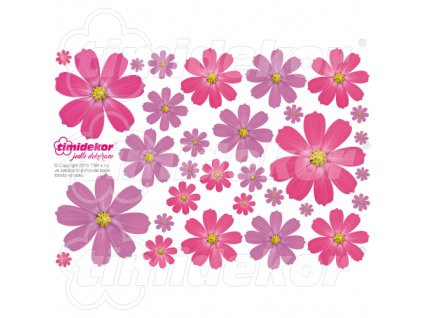 Květiny z jedlého papíru 30 ks - MIX01