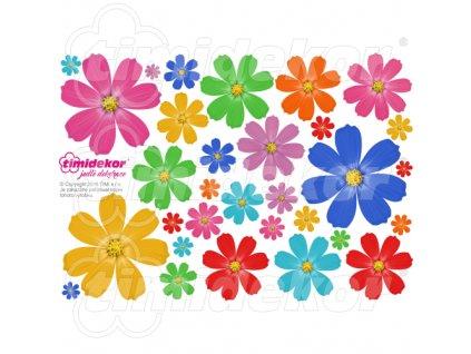 Květiny z jedlého papíru 30 ks - MIX03