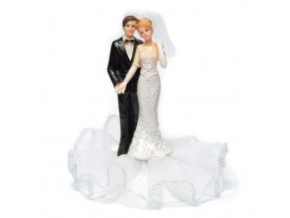 Svatební figurka na podstavci - 8114