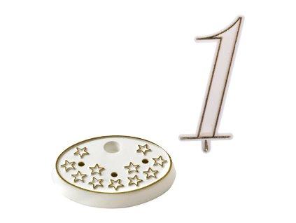 Číslice na dort s podstavcem - 1