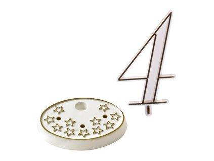 Číslice na dort s podstavcem - 4