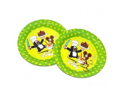 Party talíře 6 ks - Krteček