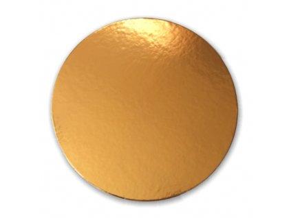 Zlatá podložka SILNĚJŠÍ - hladký okraj - 32 cm