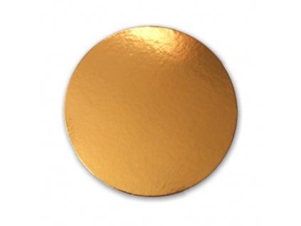 Zlatá podložka SILNĚJŠÍ - hladký okraj - 26 cm - balení 2 ks