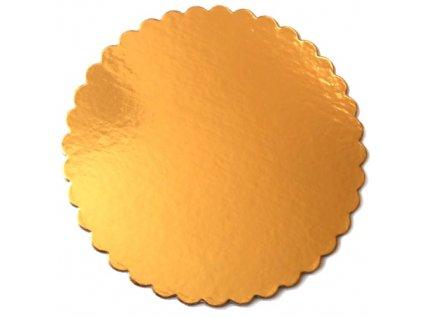 Zlatá podložka SILNĚJŠÍ - vlnitý okraj - 32 cm - balení 2 ks