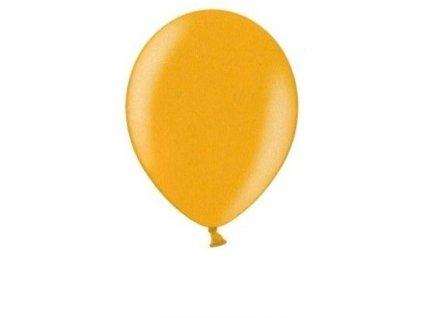 Metalické balonky 5 ks - zlaté