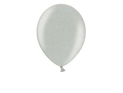 Metalické balonky 5 ks - stříbrné