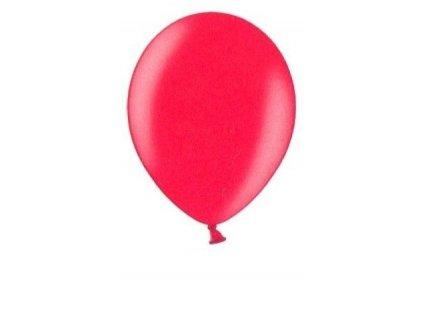 Metalické balonky 5 ks - cherry red