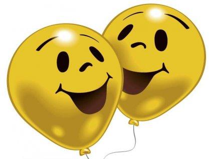 Balónky ŽLUTÝ SMAJLÍK 10 ks